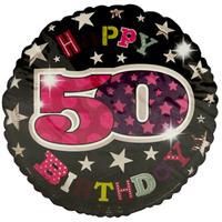 Simon Elvin - 18 inch Foil Balloon - 50th Birthday - Female - Cover