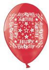 Simon Elvin - 10 inch Latex Balloon - Happy Birthday (Pack of 10)