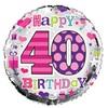 Simon Elvin - 18 inch Foil Balloon - 40th Birthday - Female Cover