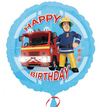 Anagram - 18 inch Circle Foil Balloon - Fireman Sam Happy Birthday