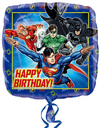 Anagram - 18 inch Square Foil Balloon - Justice League Happy Birthday