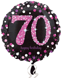 Anagram - 18 inch Circle Foil Balloon - Pink Celebration 70th Birthday - Cover