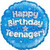 Oaktree - 18 inch Birthday Foil Balloon - Teenager - Blue
