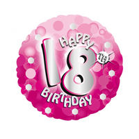 Anagram - 18 inch Holo Everts Foil Balloon - 18th Birthday - Pink - Cover