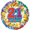 Anagram - 18 inch Met Foil Balloon - 21st Birthday Explosion Cover