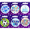 Simon Elvin - Small Badge - Birthday Boy (Pack of 6)