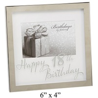 Widdop Birthdays By Juliana - 6x4 inch Mirror Print Box Frame - 18th Birthday - Cover