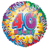 Anagram - 18 inch Met Foil Balloon - Explosion 40th Birthday Cover