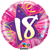 Qualatex - 18 inch Round Foil Balloon - 18th Birthday Shining Star Hot Pink Cover