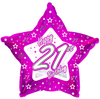 Creative Party - 18 inch Pink Star Balloon - Age 21