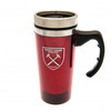 West Ham United - Club Crest Aluminium Travel Mug (450ml)