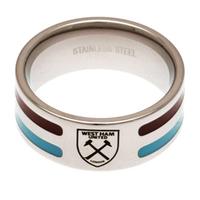 West Ham United - Club Crest Colour Stripe Ring (Medium) - Cover