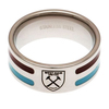 West Ham United - Club Crest Colour Stripe Ring (Medium)