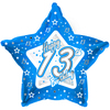 Creative Party - 18 inch Blue Star Balloon - Age 13