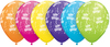 Qualatex - 11 inch Tropical Latex Balloon - Birthday (Pack of 50)