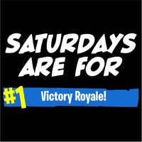 Saturdays Are For Victory Royale Men's Black T-Shirt (Large) - Cover
