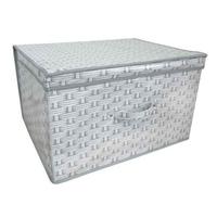Kids Folding Storage Chest - Basket Weave - Cover