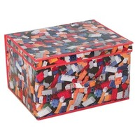 Kids Folding Storage Chest - Bricks - Cover