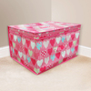 Kids Folding Storage Chest - Hearts