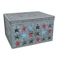 Kids Folding Storage Chest - Stars - Cover