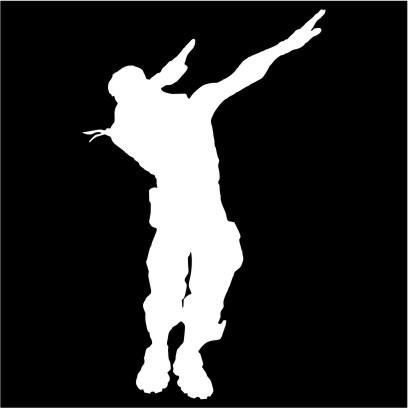 Fortnite Dance Dab Men S Black T Shirt Xxxx Large