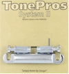 TonePros T1ZS-C Electric Guitar Locking Stop Tailpiece with 82.55mm Stud Spacing (Chrome)