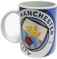 Manchester City - Halftone Mug - Cover