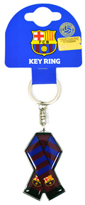 FC Barcelona - Bar Scarf Metal Keyring - Cover