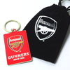 Arsenal Gunners Keyring In Velvet Gift Bag