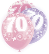 Unique Party - 12 inch Latex Balloon - 70 - Pink Cover