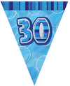 Unique Party - Blue Glitz Pennant Bunting - 30 Cover