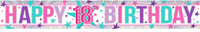 Amscan - Holographic Foil Banner - Happy 18th Birthday - Pink - Cover