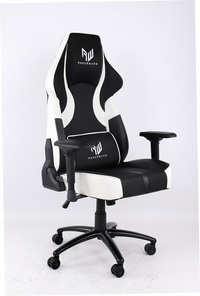 RogueWare Rally Series Black/White Gaming Chair - Cover