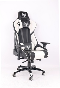 RogueWare XL-6615 Series Black/White Formula Gaming Chair - Cover