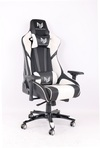 RogueWare XL-6615 Series Black/White Formula Gaming Chair