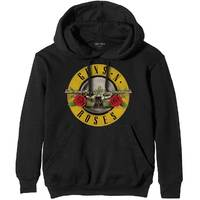 Guns n' Roses Classic Logo Men's Black Hoodie (XX-Large) - Cover