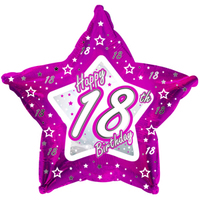 Creative Party - 18 inch Pink Star Balloon - Age 18 - Cover