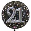Anagram - Supershape Foil Balloon - Sparkling 21st Birthday Cover