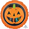 Anagram - 18 inch Circle Foil Balloon - Halloween Eek Pumpkin