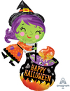 Anagram - Supershape Foil Balloon - Halloween Witch & Cauldron