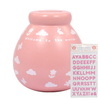 Pots Of Dreams - Personalised (Baby Girl With Pink Glitter Stickers)