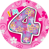 Expression Factory - I Am 4 - Girl - Badge (Giant)