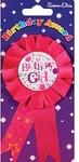 Simon Elvin - Award Rosette - Birthday Girl