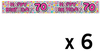 Expression Factory - Holographic Foil Banner - Age 70 - Female (Pack of 6)
