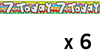 Expression Factory - Holographic Foil Banner - Age 7 - Unisex (Pack of 6)