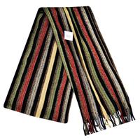 Scarf - Black/Orange/Gold/Cream Stripes - Cover