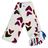 Scarf - Red Hearts