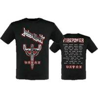 Judas Priest Graphic Emblem City 2018 Men's Black T-Shirt (X-Large) - Cover