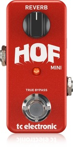 TC Electronic HOF Hall of Fame Mini Electric Guitar Reverb Effects Pedal (Red) - Cover