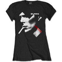 David Bowie X Smoke Red Women's Black T-Shirt (X-Large)